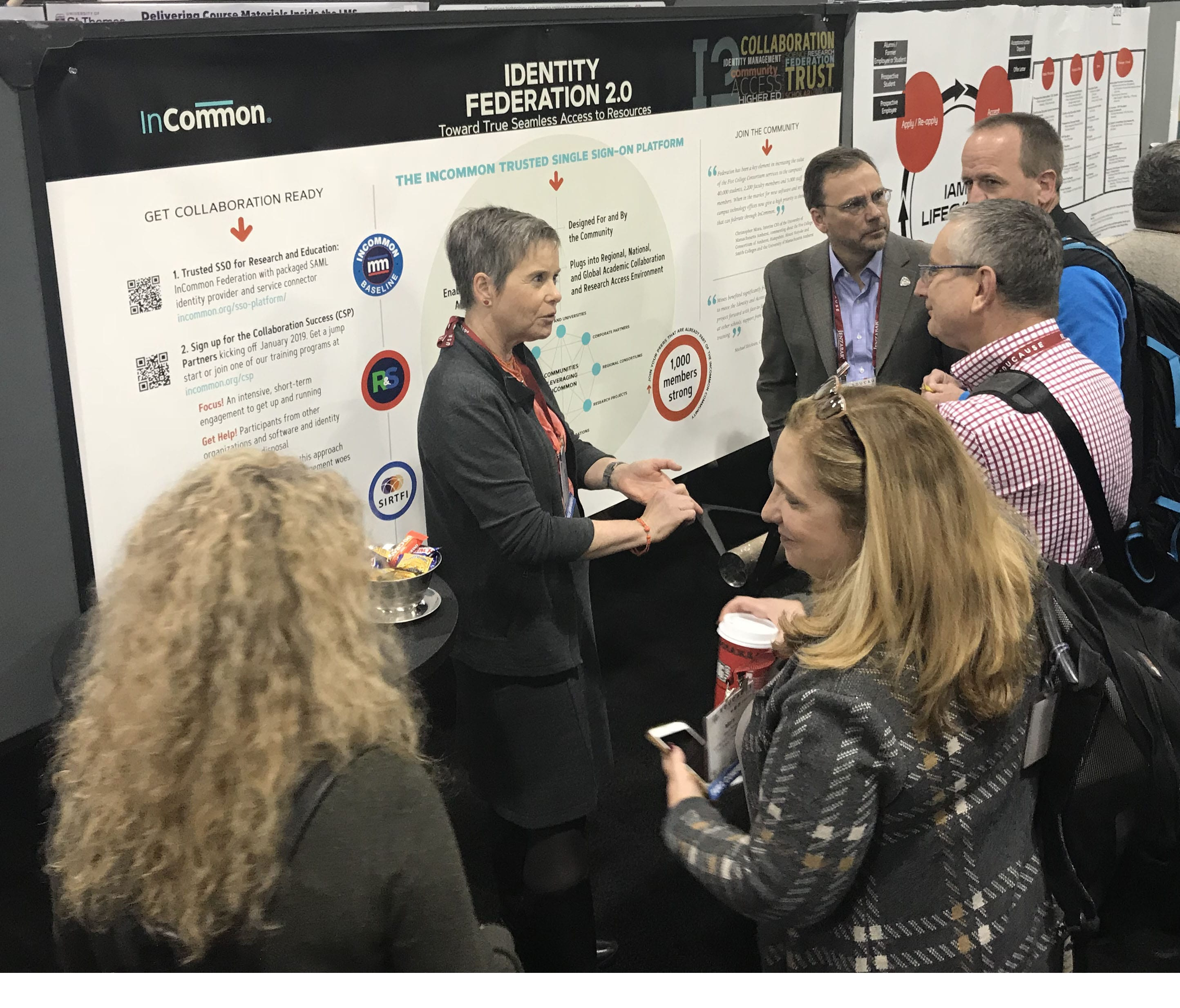 Ann West and Mike Erickson present a poster session at 2018 EDUCAUSE conference.